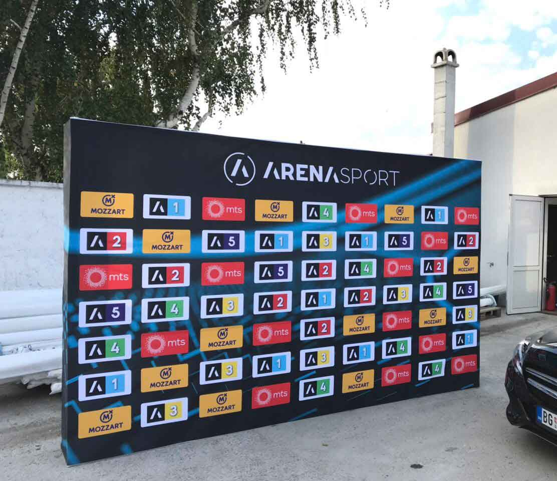 Display wall arena sport studio